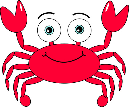Cartoon cute crab Illustration