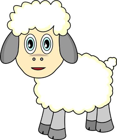 Cute Cartoon Sheep Stock Vector - 4220544