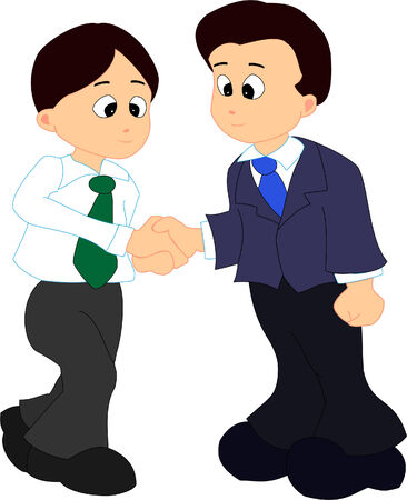 handclasp: Two man giving a handshake