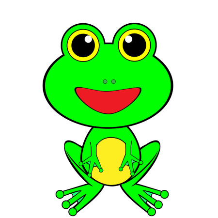 A Cute Looking Frog Stock Vector - 4419866