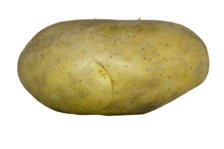 isolated potato Stock Photo