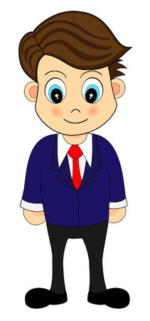 An Office Worker in Suit Vector