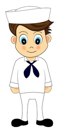 cute sailor in uniform