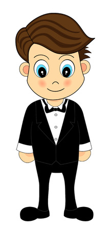 Cute Waiter  Illustration