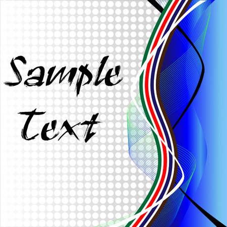 abstract retro halftone stripes and wavy  line background Illustration