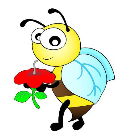 sip: abeja lindo tomar un sorbo de una flor