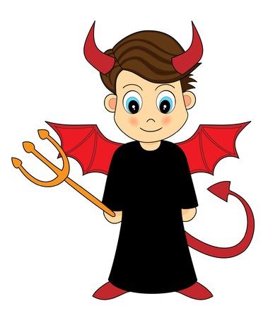 Cute Devil Boy Illustration
