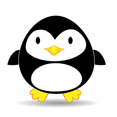 Cute looking penguin standing alone  Vector