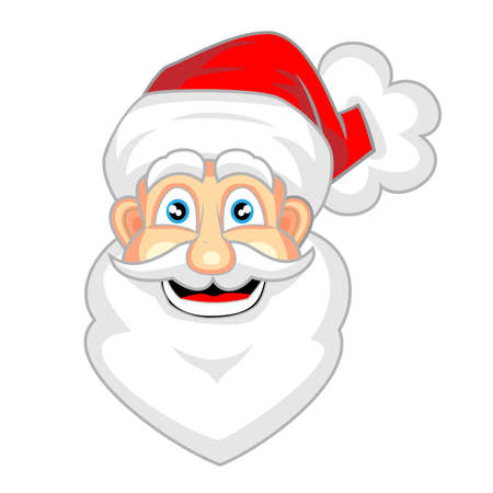 funny bearded man: cute face of happy looking santa claus