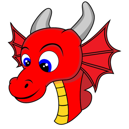mythological character: Cute Dragon Head