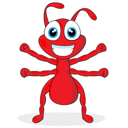 Cute little Mrówka czerwony