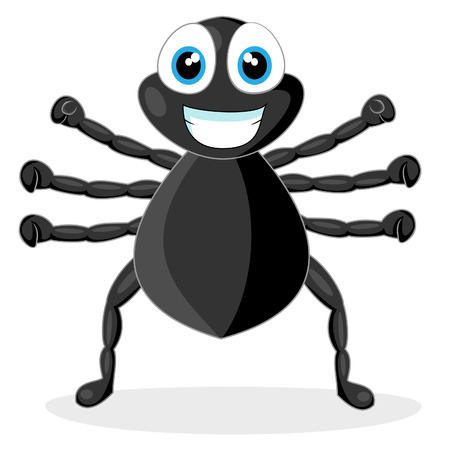 cute little spider  Vector