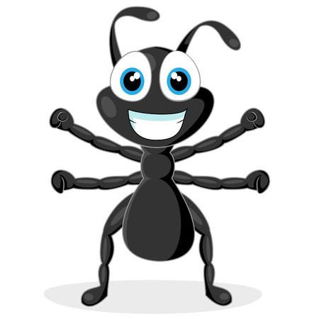 hormiga: lindo hormiga negra poco  Vectores