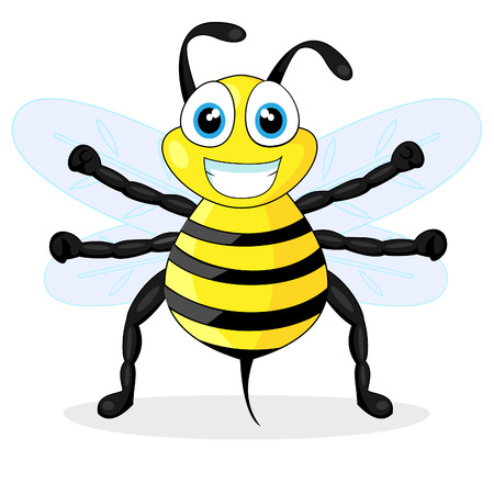 an insect sting: cute bee