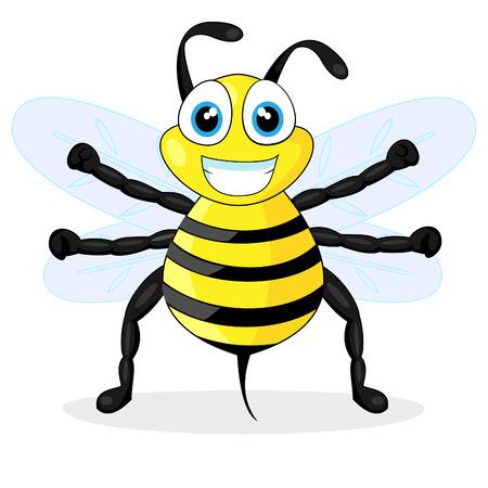 comic wasp: cute bee