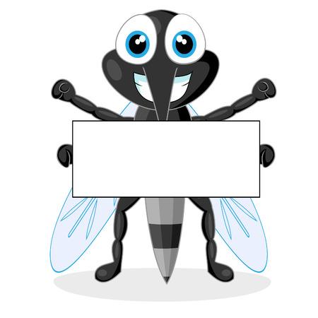 skin infections: mosquito lindo con signo en blanco