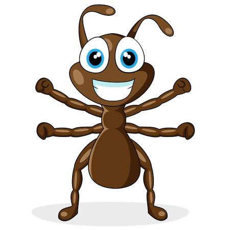 Cute little ant brÄ…zowy
