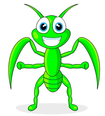 gottesanbeterin: cute Praying mantis  Illustration