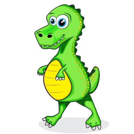 cute dinosaur t-rex  Vector