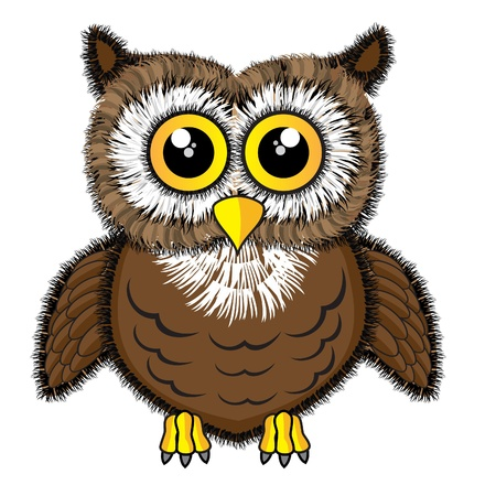 wise owl: illustration of a cute looking owl