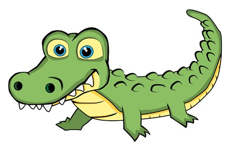 Cute Looking Crocodile  Vector