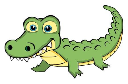 Cute Looking Crocodile Stock Vector - 11079298