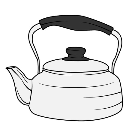 thermal: Illustration of Isolated Kettle Cartoon Drawing. Vector EPS 8.