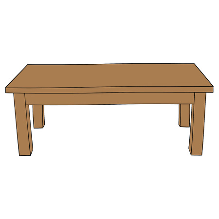 Illustration of Isolated Cartoon Table. Vector EPS 8. Illustration