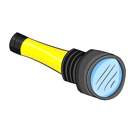 Illustration of isolated cartoon torch light. Vector EPS 8. Ilustração
