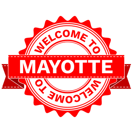 mayotte: Illustration Doodle of WELCOME TO COUNTRY MAYOTTE . EPS8 .