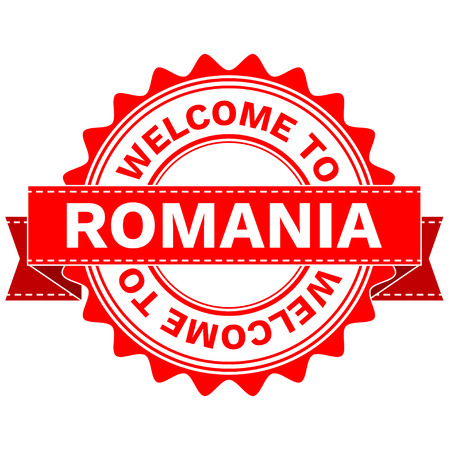 Illustration Doodle of WELCOME TO COUNTRY ROMANIA . EPS8 . Illustration