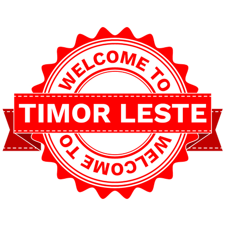 Illustration Doodle of WELCOME TO COUNTRY TIMOR LESTE . EPS8 . Illustration