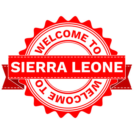 Illustration Doodle of WELCOME TO COUNTRY SIERRA LEONE . EPS8 .