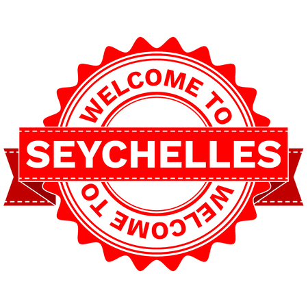 Illustration Doodle of WELCOME TO COUNTRY SEYCHELLES . EPS8 .