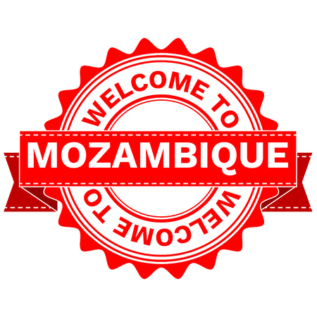 Illustration Doodle of WELCOME TO COUNTRY MOZAMBIQUE . EPS8 .