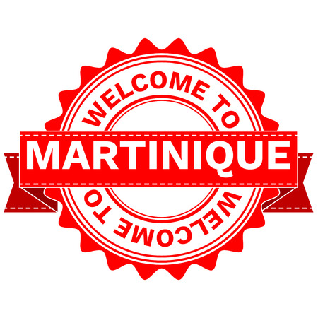 Illustration Doodle of WELCOME TO COUNTRY MARTINIQUE . EPS8 .