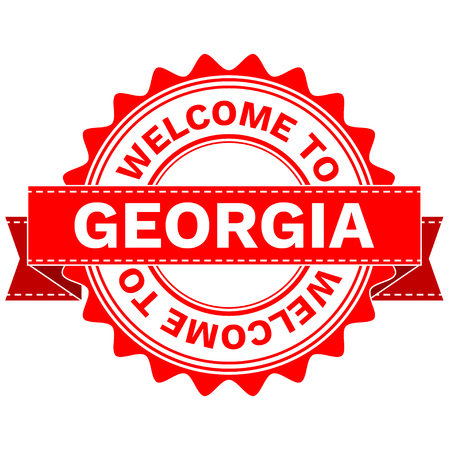 Vector Illustration Doodle of WELCOME TO COUNTRY GEORGIA . EPS8 .