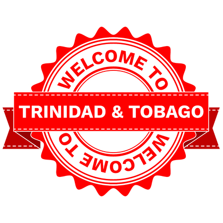 Illustration  Doodle of WELCOME TO COUNTRY TRINIDAD AND TOBAGO . EPS8 . Illustration