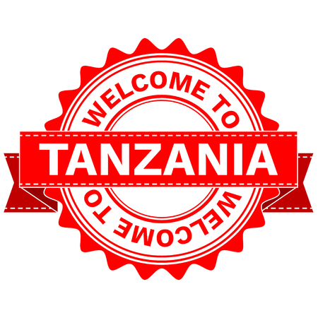 Illustration  Doodle of WELCOME TO COUNTRY TANZANIA . EPS8 .