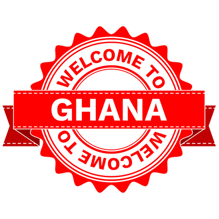 Illustration  Doodle of WELCOME TO COUNTRY GHANA . EPS8 .