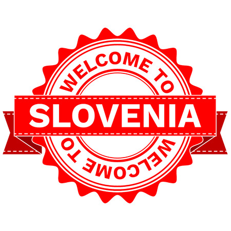 Vector Illustration Doodle of WELCOME TO COUNTRY SLOVENIA . EPS8 .