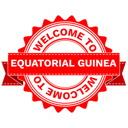 Vector Illustration Doodle of WELCOME TO COUNTRY EQUATORIAL GUINEA . EPS8 . Illustration
