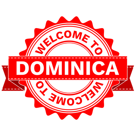 Vector Illustration Doodle of WELCOME TO COUNTRY DOMINICA . EPS8 . Illustration