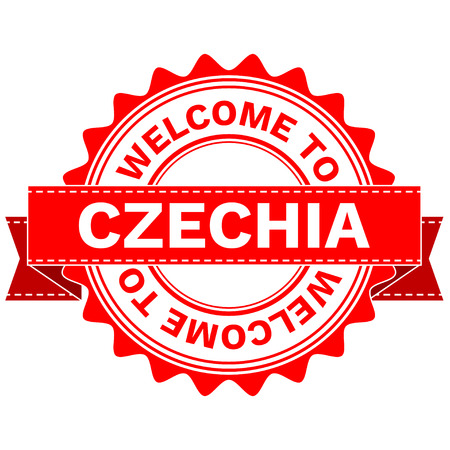 Vector Illustration Doodle of WELCOME TO COUNTRY CZECHIA . EPS8 .