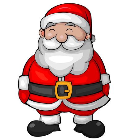Illustration of a Happy Cartoon Santa. Vector EPS10