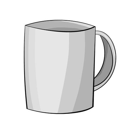 Illustration of A Cartoon Mug. Vector EPS 10 Illustration
