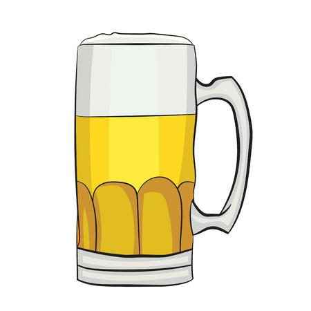 Illustration of A Cartoon Beer Mug. Vector EPS 10