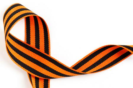 Symbolic St. George ribbon isolated on white background