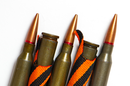 Black orange ribbon of St. George and ammunition as a symbol