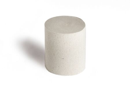 Toilet paper roll isolated on white background as graphically resource.